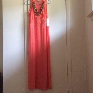 Orange Beaded NY Collection Dress